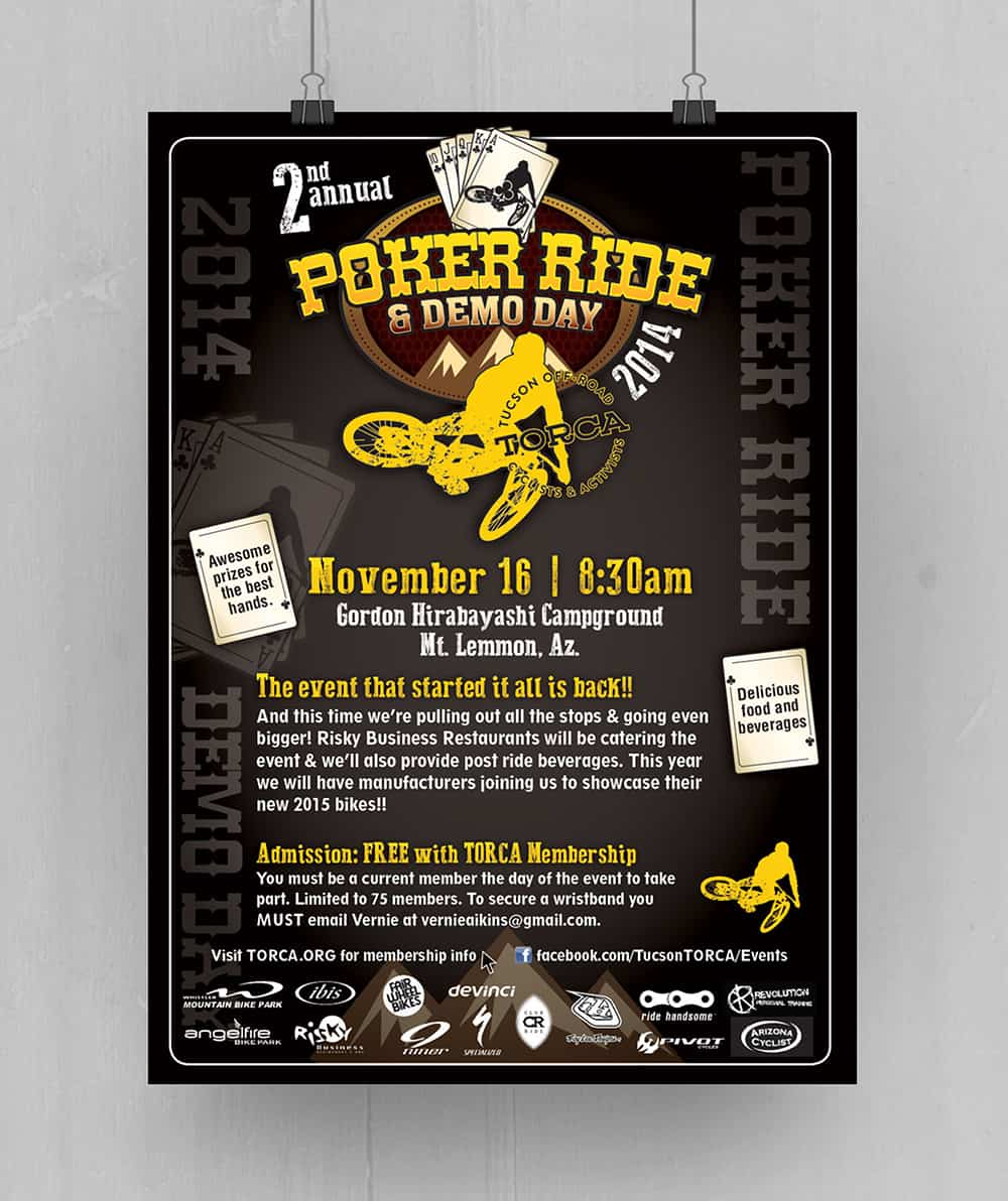 TORCA Poker Ride Poster