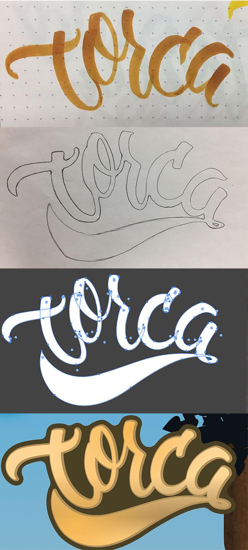 Hand written Logo. Vectorized