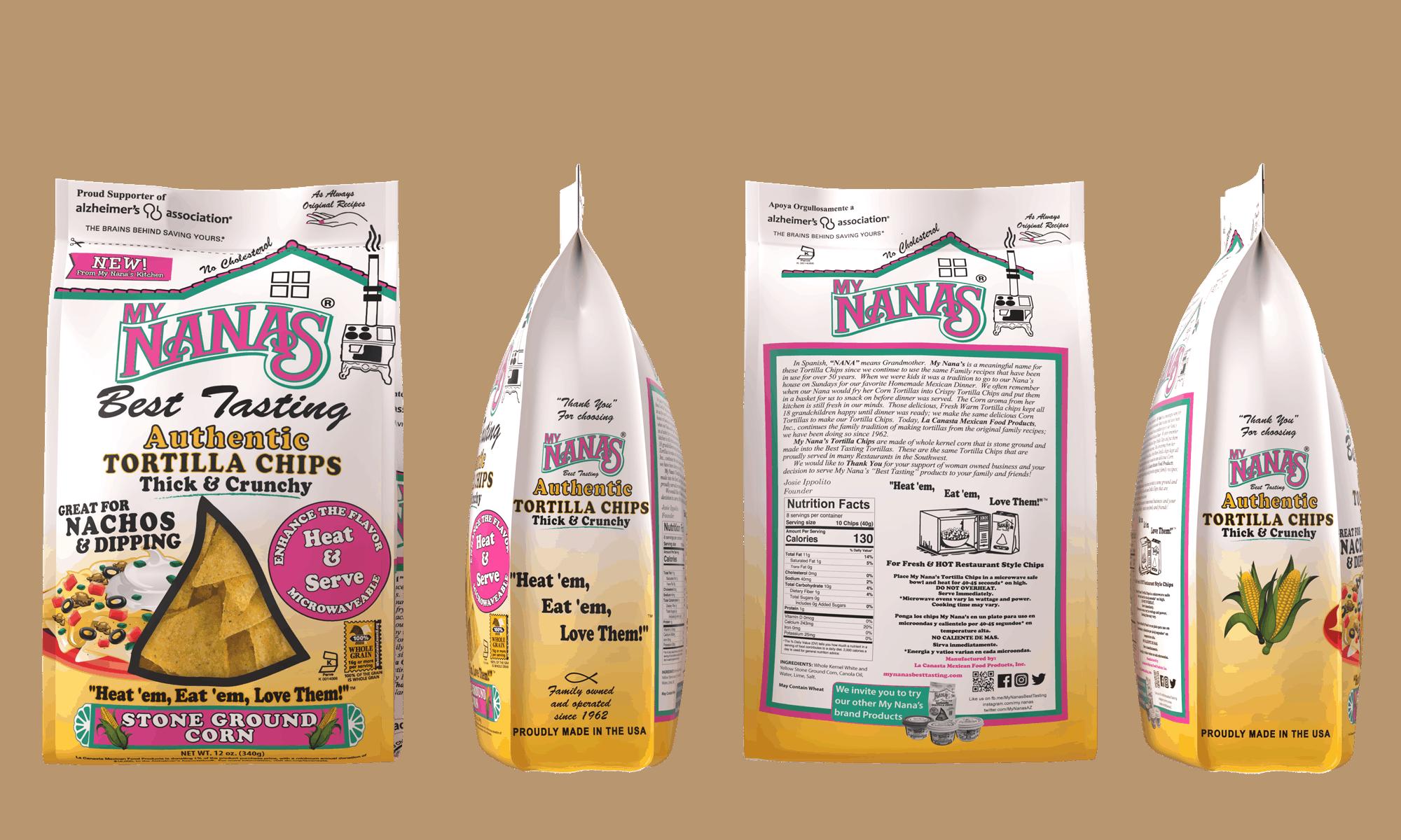 My Nanas Nacho Chips Bag Mockup