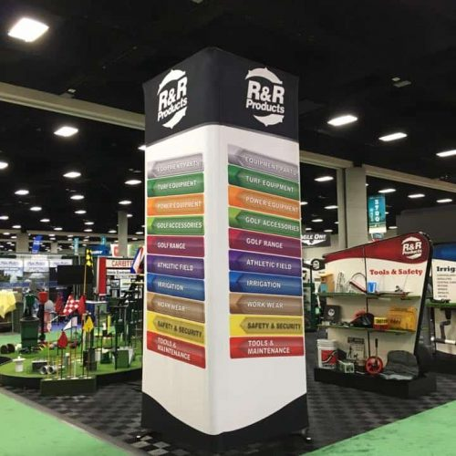 Stretch fabric trade show display