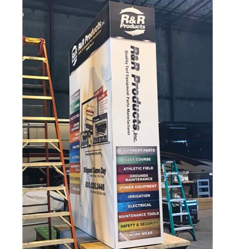 13 Ft Video Display skinned to look like a catalog