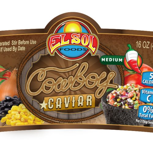 Cowboy Caviar Salsa Label