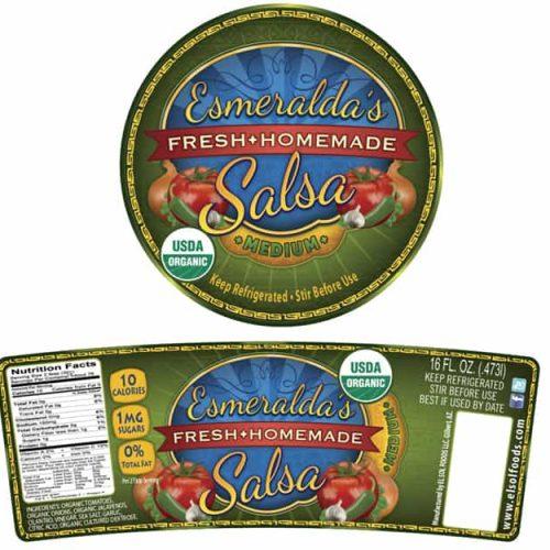 Esmeraldas Salsa Label
