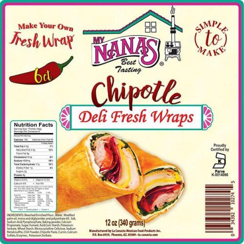 My Nana's wrap packaging