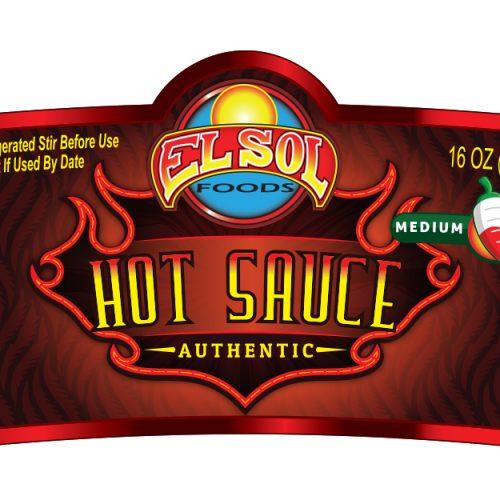 El Sol Hot Sauce Label